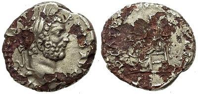 Denario forrado de Septimio Severo. P M TR P XVII COS III P P - Salus. Roma 15263.m