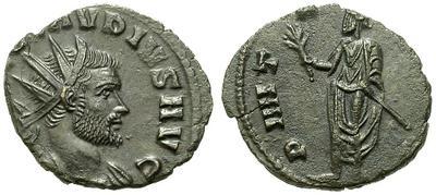 Antoniniano de Claudio II. Emperador con toga. Roma. 15331.m