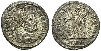 Nummus o follis de Diocleciano. GENIO PVPVLI ROMANI. Heraclea 15556.m