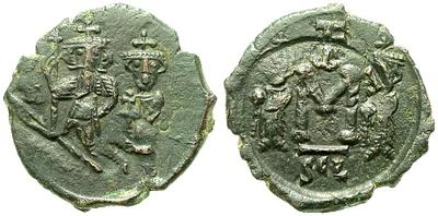 40 nummi de Heraclio y Heraclio Constantino 15704.m