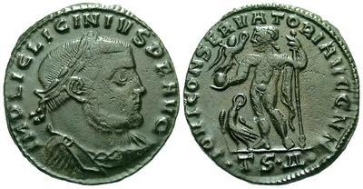 Nummus de Licinio I. IOVI CONSERVATORI AVGG NN. Tesalónica 2082.m