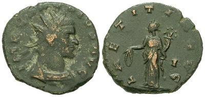 Antoniniano de Claudio II. LAETITIA AVG. Siscia 21089.m
