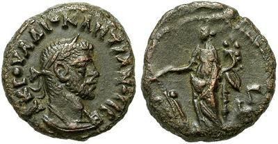 Tetradracma de Diocleciano. L Γ - Tyche. Alexandría 23161.m