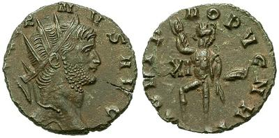 Antoniniano de Galieno. IOVI PROPVGNAT. Roma 24010.m