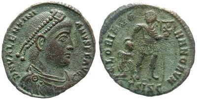 nummus de Valentinien pour Thessalonique 2409.m