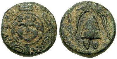 AE14 de Filipo III o Kasander. Macedonia 24384.m