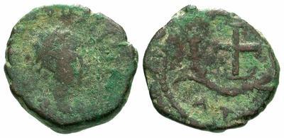 Nummus de Teodosio II. Cruz. Cycico? 2985.m