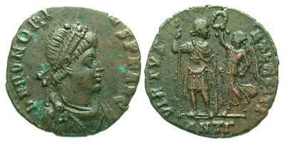 AE4 de Arcadio. VIRTVS EXERCITI, Antioquía  3349.m