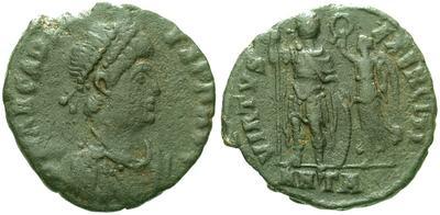 AE4 de Arcadio. VIRTVS EXERCITI, Antioquía  5521.m