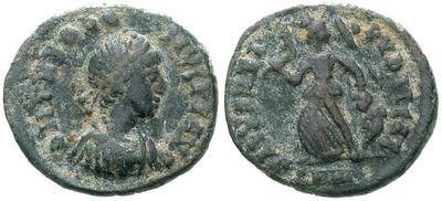 AE4 de Teodosio I. SALVS REIPVBLICAE. 5802.m