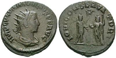 Antoniniano de Galieno. IOVI CONSERVATORI. Antioquía 6069.m