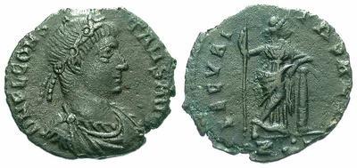 AE4 de Constante. SECVRITAS REIP. Roma 918.m