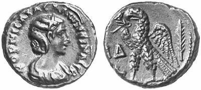 Tetradracma de potín de Salonina. Alejandría 163532.m