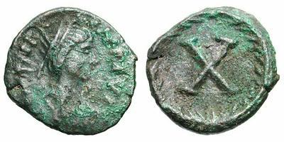 10 Nummi de Justiniano I. 925985.m