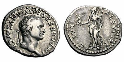 Denario de Domiciano.  TR P COS VII DES VIII P P. Minerva. Roma. 1487164.m