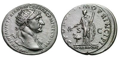 As de Trajano. Arabia. Roma. 724864.m