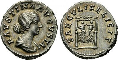 Denario de Faustina II. SAECVLI FELICIT. Reproducion? 1534500.m