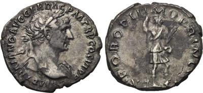 Denario de Trajano. S P Q R OPTIMO PRINCIPI. Virtus 1704226.m