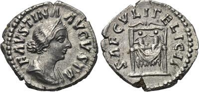 Denario de Faustina II. SAECVLI FELICIT. Reproducion? 1704259.m