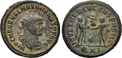 Antoniniano o Aureliano de Maximiano Hércules  1739810.m