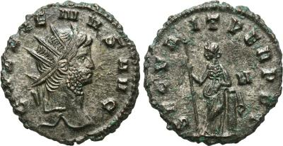 Antoniniano de Galieno. SECVRIT PERPET. Roma 1873210.m