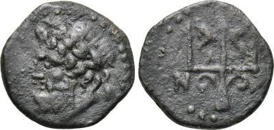 AE 15 de Sicilia. Siracusa. Tridente de Poseidón. 2007998.m