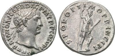 Denario de Trajano. S P Q R OPTIMO PRINCIPI. Virtus 2008559.m