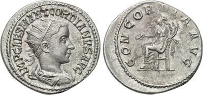 Antoniniano de Gordiano III. CONCORDIA AVG. Antioquía. 2008754.m