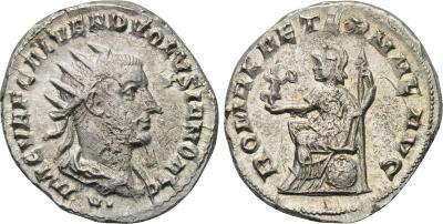Antoniniano de Volusiano. ROMAE AETERNAE AVG. Antioquía. 2008802.m