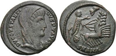 AE4 póstumo de Constantino I. Cuadriga. Antioquía 2008885.m
