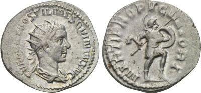 Antoniniano de Hostiliano. PROPVGNATORI. Roma. 2078694.m
