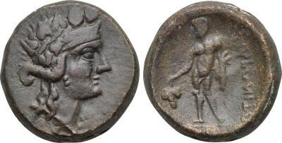 AE19 de Maroneia, Tracia 2091375.m