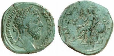 Sestercio de Marco Aurelio. IMP VI COS III / S C. Roma. 862700.m