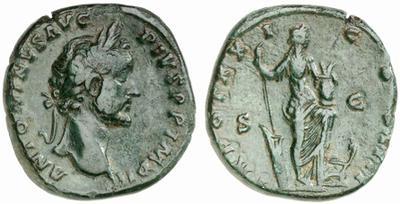 Sestercio de Antonino Pio. TR POT XXI COS IIII. Annona. Roma. 1211708.m
