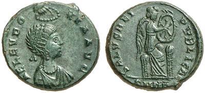 AE3 de Aelia Eudoxia. SALVS REIPVBLICAE. Nicomedia 1717316.m
