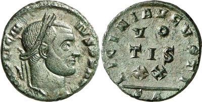 AE3 de Licinio I. LICINI AVGVSTI / VOTIS XX. Arlés 449668.m