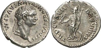 Denario de Domiciano.  TR P COS VII DES VIII P P. Minerva. Roma. 524972.m