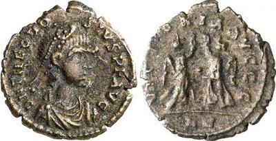 AE4 de Teodosio I. VICTORIA AVGGG. Roma 589517.m
