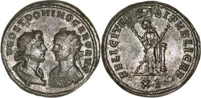 Carus - Carinus - Numerien et Sol sur une même monnaie 823318.m