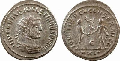 Aureliano de Diocleciano. IOV ET HERCV CONSER AVGG. Antioquía  755934.m