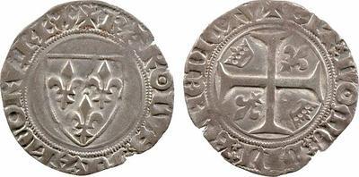 Blanc guenar de Carlos VI (1380-1422) de Francia 684499.m