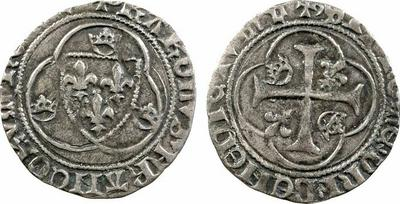 Blanc à la couronne. Carlos VII. Francia 684521.m