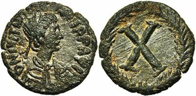 10 Nummi de Justiniano I. 1800812.m