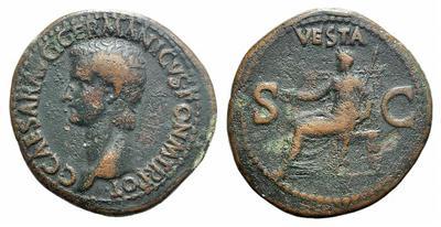 As de Caligula. VESTA  / SC. Roma 1827022.m