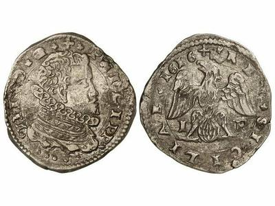 4 taris de Felipe III de Sicilia año 1616 1321055.m
