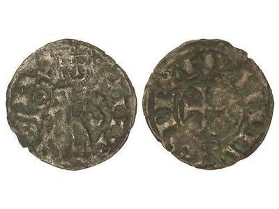 Dinero de Alfonso VIII (1158-1214) con marca de ceca creciente 1509950.m