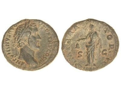 As de Antonino Pío. IMPERATOR II. Libertas. Roma. 2163647.m