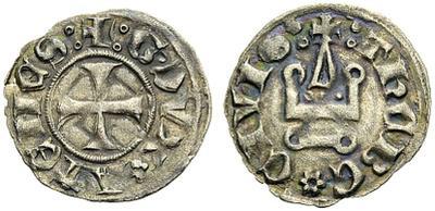 Dinero de los almogávares (1311-1388) o los duques florentinos (1388-1394) del ducado de Atenas  1016663.m