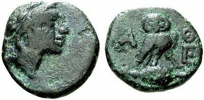 Bronce de Atenas (Atenea - Mochuelo sobre ánfora) / 195-190 a.C. 625136.m