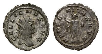 Antoniniano de Gallieno. AETERNITAS AVG. Sol. Roma. 1736109.m